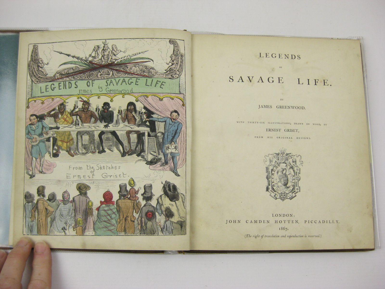 Photo of LEGENDS OF SAVAGE LIFE written by Greenwood, James illustrated by Griset, Ernest published by John Camden Hotten (STOCK CODE: 738000)  for sale by Stella & Rose's Books