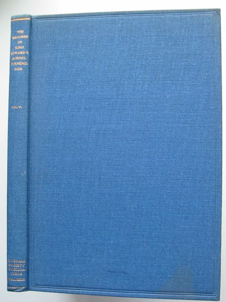 Photo of THE RECORDS OF KING EDWARD'S SCHOOL BIRMINGHAM VOL VI written by Izon, John published by The Dugdale Society (STOCK CODE: 806369)  for sale by Stella & Rose's Books
