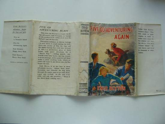 Photo of FIVE GO ADVENTURING AGAIN written by Blyton, Enid illustrated by Soper, Eileen published by Hodder & Stoughton (STOCK CODE: 806517)  for sale by Stella & Rose's Books