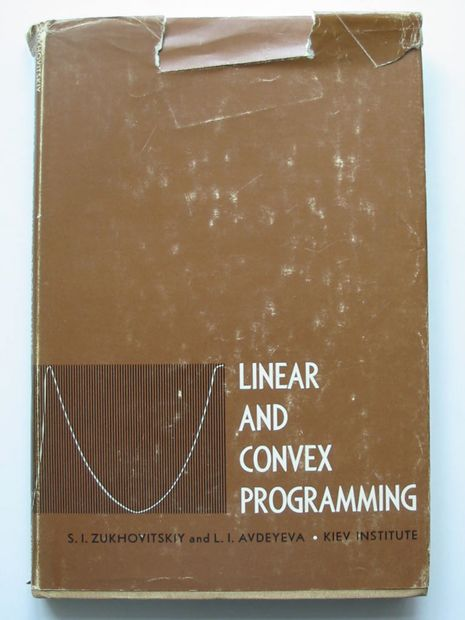 Photo of LINEAR AND CONVEX PROGRAMMING- Stock Number: 807087