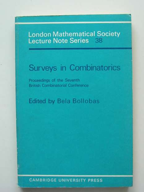 Photo of SURVEYS IN COMBINATORICS written by Bollobas, Bela published by Cambridge University Press (STOCK CODE: 807444)  for sale by Stella & Rose's Books