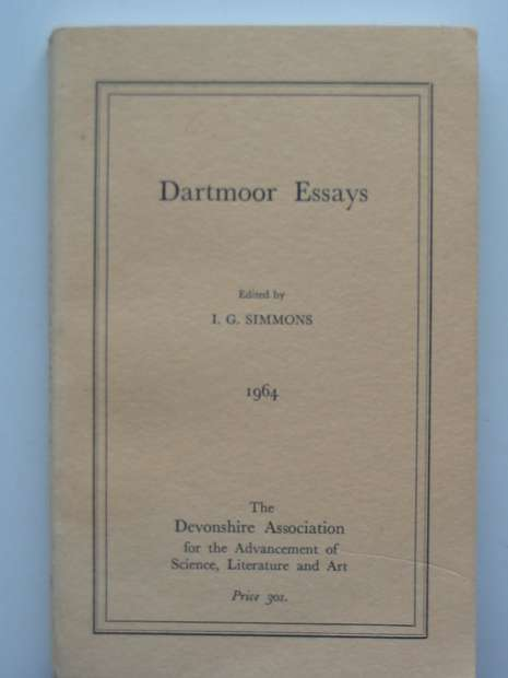 Photo of DARTMOOR ESSAYS written by Simmons, I.G. published by The Devonshire Association (STOCK CODE: 807622)  for sale by Stella & Rose's Books
