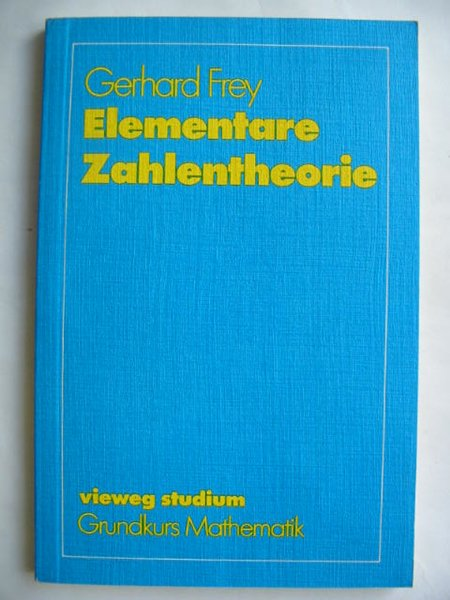 Photo of ELEMENTARE ZAHLENTHEORIE- Stock Number: 809840