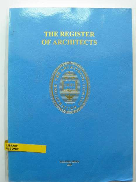 Photo of THE REGISTER OF ARCHITECTS 1993- Stock Number: 810378