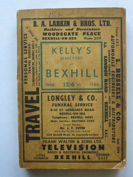 Photo of KELLY'S DIRECTORY OF BEXHILL published by Kelly's Directories Ltd. (STOCK CODE: 810491)  for sale by Stella & Rose's Books