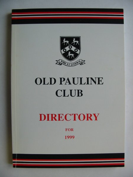 Photo of OLD PAULINE CLUB DIRECTORY 1999- Stock Number: 810581