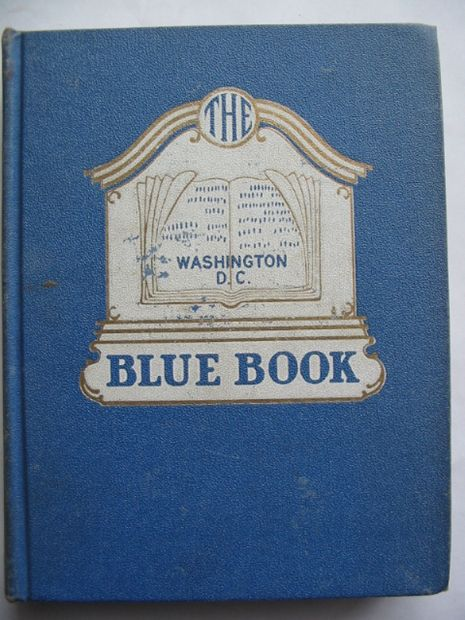 Photo of THE BLUE BOOK OF WASHINGTON D.C.- Stock Number: 810623