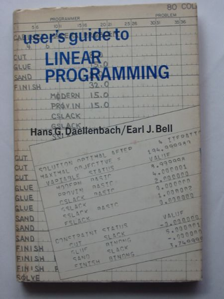 Photo of USER'S GUIDE TO LINEAR PROGRAMMING- Stock Number: 810712