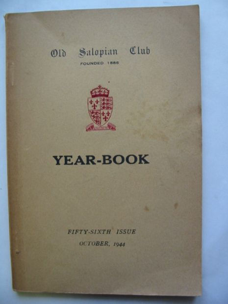 Photo of OLD SALOPIAN CLUB YEAR-BOOK 1944 published by Wilding & Son Ltd. (STOCK CODE: 811142)  for sale by Stella & Rose's Books