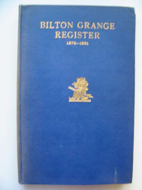 Photo of BILTON GRANGE REGISTER 1873-1931 written by Earle, Granville published by George Over (STOCK CODE: 812053)  for sale by Stella & Rose's Books