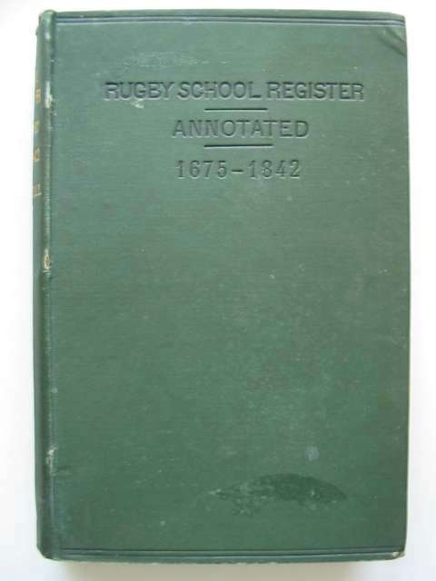 Photo of RUGBY SCHOOL REGISTER VOLUME I- Stock Number: 812665