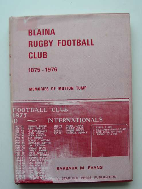 Photo of BLAINA RUGBY FOOTBALL CLUB 1875-1976 written by Evans, Barbara M. published by The Starling Press (STOCK CODE: 814268)  for sale by Stella & Rose's Books