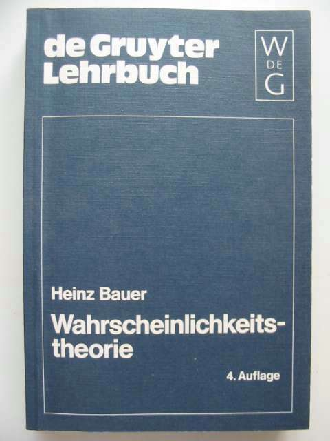 Photo of WAHRSCHEINLICHKEITSTHEORIE written by Bauer, Heinz published by Walter De Gruyter (STOCK CODE: 816251)  for sale by Stella & Rose's Books