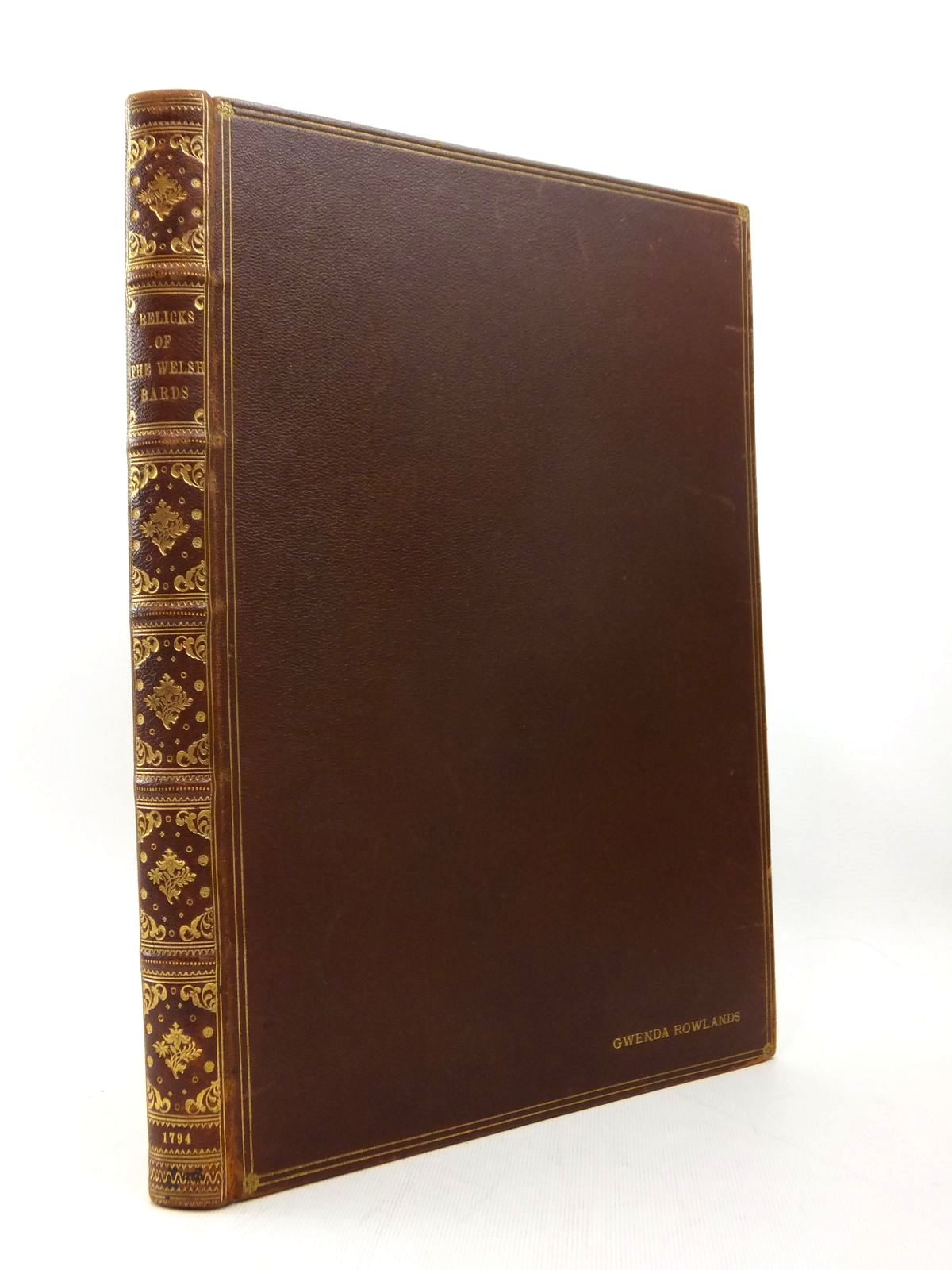 Photo of MUSICAL AND POETICAL RELICKS OF THE WELSH BARDS- Stock Number: 816482