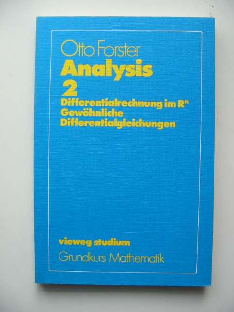 Photo of ANALYSIS 2 written by Forster, Otto published by Friedrich Vieweg (STOCK CODE: 817409)  for sale by Stella & Rose's Books