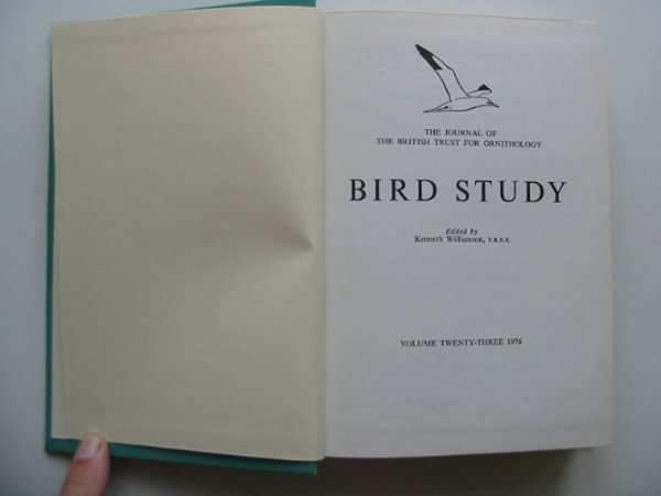 Photo of BIRD STUDY VOLS. 23-24 written by Williamson, Kenneth published by British Trust for Ornithology (STOCK CODE: 818241)  for sale by Stella & Rose's Books