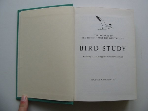 Photo of BIRD STUDY VOLS. 19-20 written by Flegg, J.J.M. Williamson, Kenneth published by British Trust for Ornithology (STOCK CODE: 818242)  for sale by Stella & Rose's Books