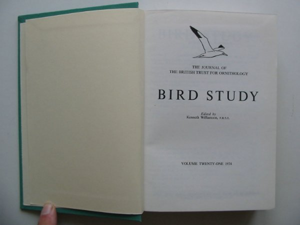 Photo of BIRD STUDY VOLS. 21-22 written by Williamson, Kenneth published by British Trust for Ornithology (STOCK CODE: 818244)  for sale by Stella & Rose's Books