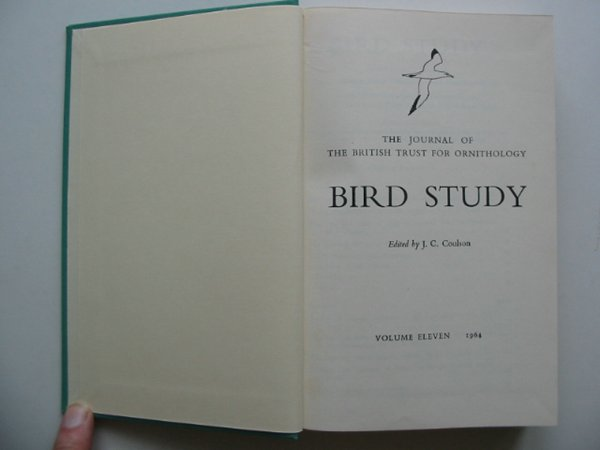 Photo of BIRD STUDY VOLS. 11-12 written by Coulson, J.C. published by British Trust for Ornithology (STOCK CODE: 818247)  for sale by Stella & Rose's Books