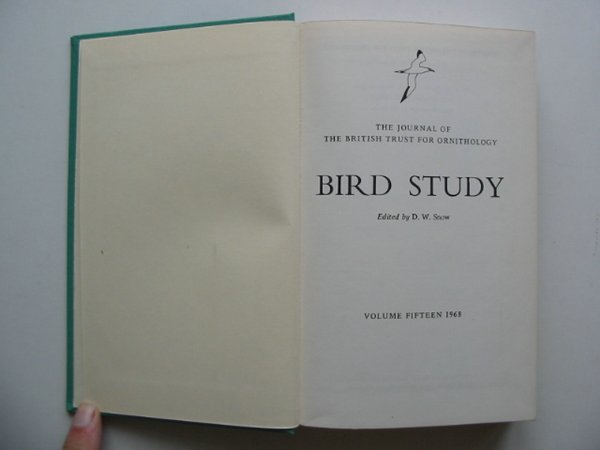 Photo of BIRD STUDY VOLS. 15-16 written by Snow, David W. published by British Trust for Ornithology (STOCK CODE: 818248)  for sale by Stella & Rose's Books
