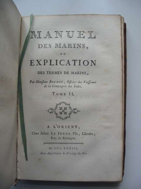 Photo of MANUEL DES MARINS OU EXPLICATION DES TERMES DE MARINE TOME I & II written by Bourde,  (STOCK CODE: 818625)  for sale by Stella & Rose's Books