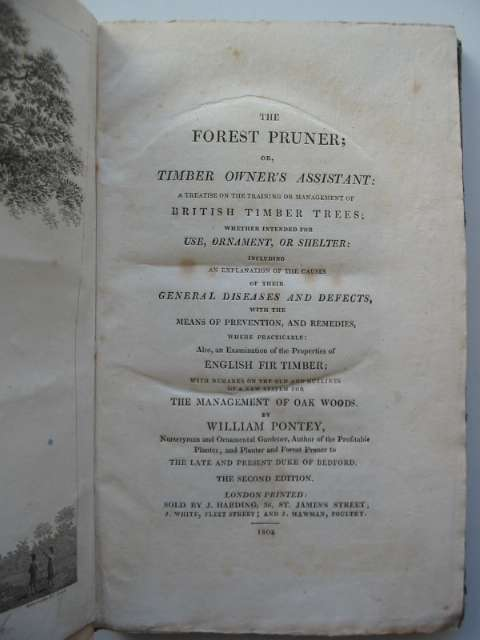 Photo of THE FOREST PRUNER OR TIMBER OWNER'S ASSISTANT written by Pontey, William published by J. Harding (STOCK CODE: 818866)  for sale by Stella & Rose's Books