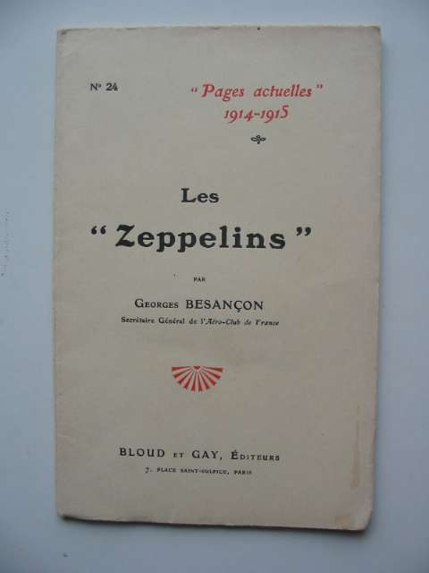 Photo of LES ZEPPELINS written by Besancon, Georges published by Bloud Et Gay (STOCK CODE: 818897)  for sale by Stella & Rose's Books