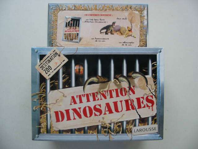 Photo of ATTENTION DINOSAURES written by Bezuel, Sylvie illustrated by Boos, Andre published by Larousse (STOCK CODE: 822506)  for sale by Stella & Rose's Books