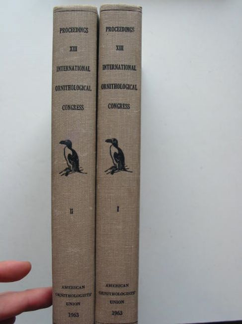 Photo of PROCEEDINGS XIII INTERNATIONAL ORNITHOLOGICAL CONGRESS published by The American Ornithologists Union (STOCK CODE: 823809)  for sale by Stella & Rose's Books