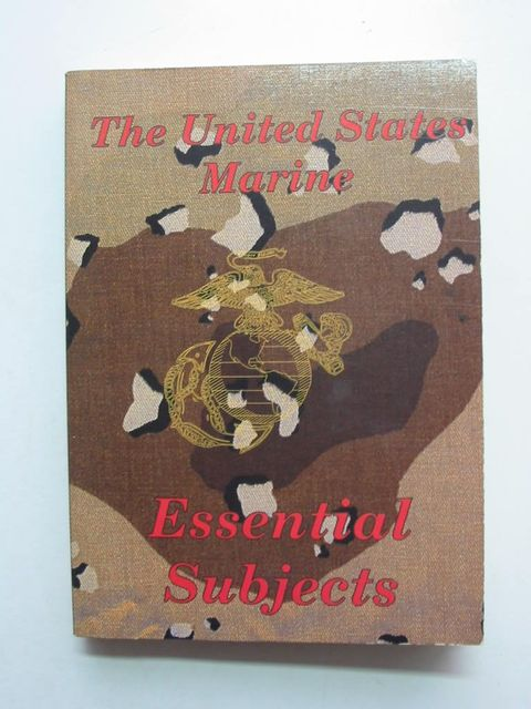 Photo of THE UNITED STATES MARINE ESSENTIAL SUBJECTS- Stock Number: 824010