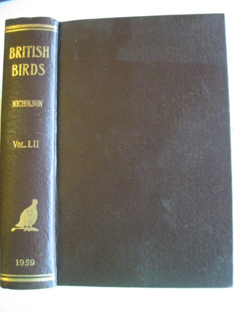 Photo of BRITISH BIRDS VOL. LII- Stock Number: 875016