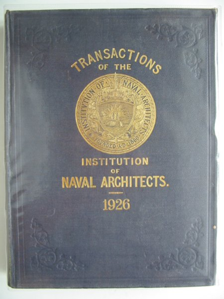 Photo of TRANSACTIONS OF THE INSTITUTION OF NAVAL ARCHITECTS VOLUME LXVIII written by Dana, R.W. published by Institution Of Naval Architects (STOCK CODE: 900442)  for sale by Stella & Rose's Books