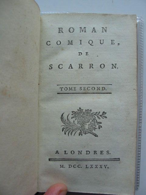 Photo of ROMAN COMIQUE DE SCARRON written by Scarron,  (STOCK CODE: 983508)  for sale by Stella & Rose's Books