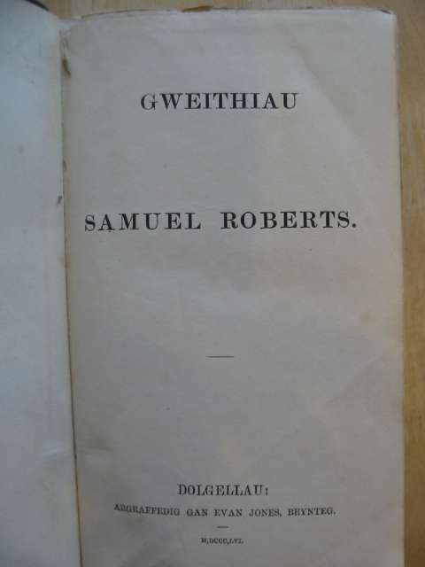 Photo of GWEITHIAU written by Roberts, Samuel published by Evan Jones (STOCK CODE: 988508)  for sale by Stella & Rose's Books