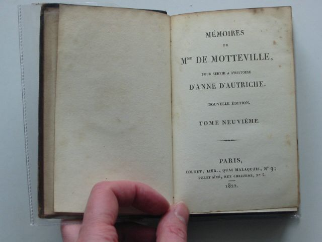Photo of MEMOIRS DE MME DE MOTTEVILLE TOMES NEUVIEME & DIXIEME written by De Motteville, Madame published by Colnet (STOCK CODE: 988802)  for sale by Stella & Rose's Books