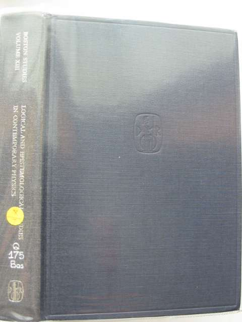 Photo of LOGICAL AND EPISTEMOLOGICAL STUDIES IN COMTEMPORARY PHYSICS- Stock Number: 989087