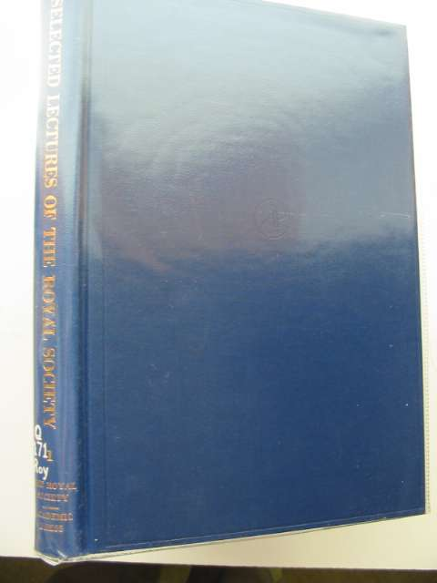 Photo of SELECTED LECTURES OF THE ROYAL SOCIETY VOLUME 1- Stock Number: 989100