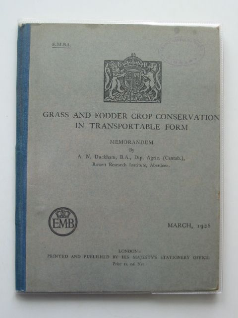Photo of GRASS AND FODDER CROP CONSERVATION IN TRANSPORTABLE FORM- Stock Number: 989968