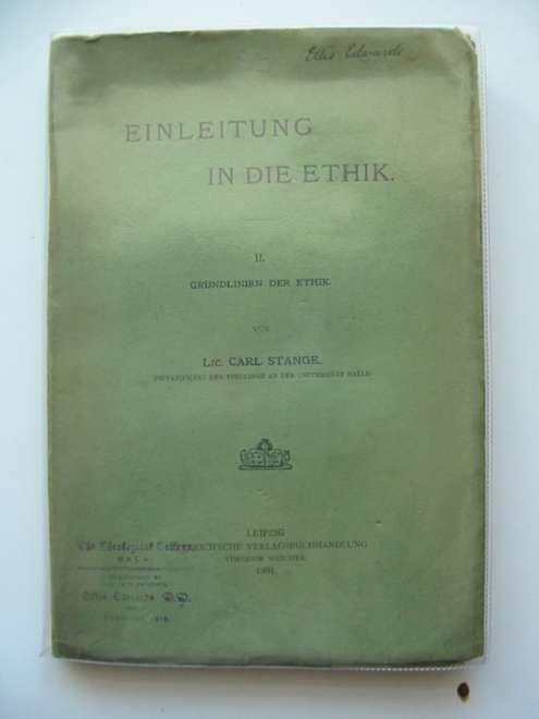 Photo of EINLEITUNG IN DIE ETHIK II- Stock Number: 990282
